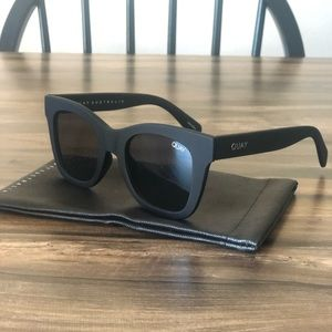QUAY AFTER HOURS BLACK MATTE SUNGLASSES